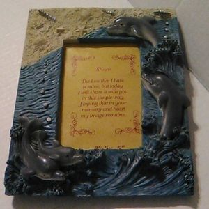 Other - Dove and ocean photo frame